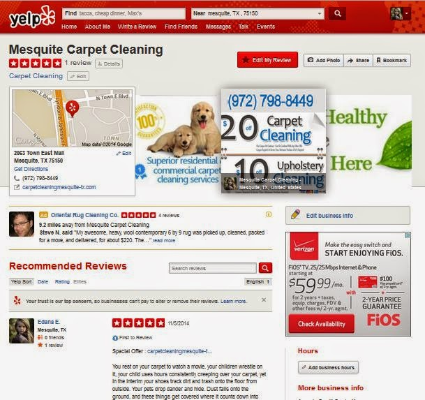 Mesquite Carpet Cleaning on Yelp
