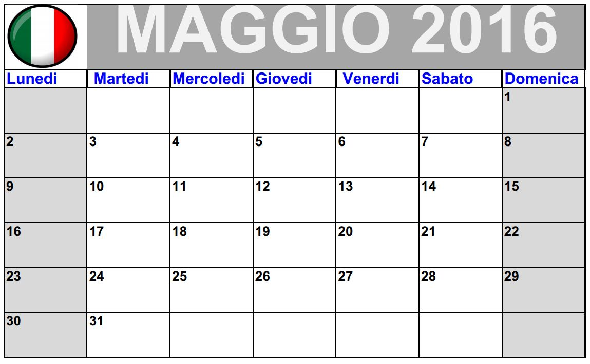 Favorito Calendari Gratis Da Stampare LU27 » Regardsdefemmes PG87