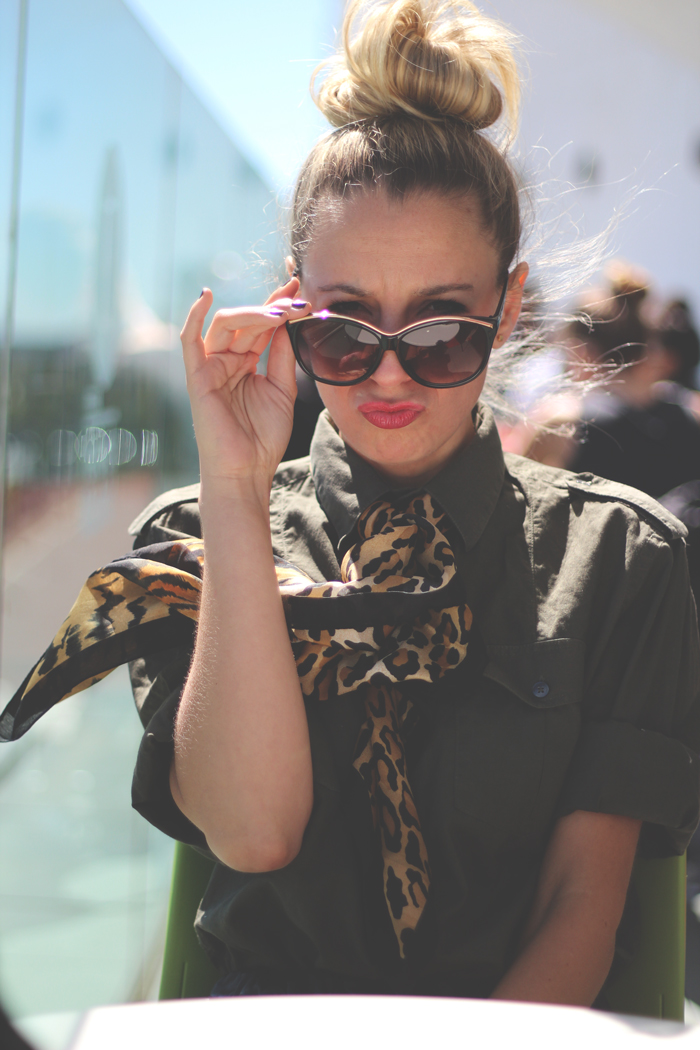 MBFW, Madrid, Funny, Military trend, red lips, street style, fashion blogger, My Showroom