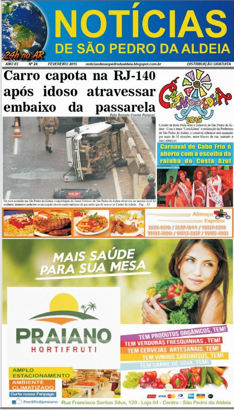 JORNAL NOTÍCIAS DE SÃO PEDRO DA ALDEIA EDIÇÃO DE FEVEREIRO 2015