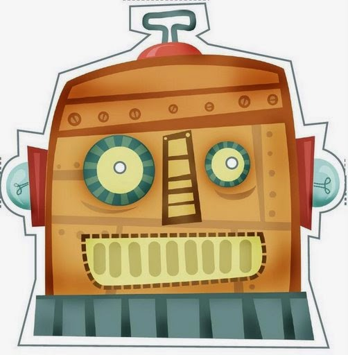 Robot: Máscara para Imprimir Gratis.