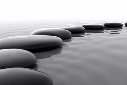 Zen Pebbles On Water Peace