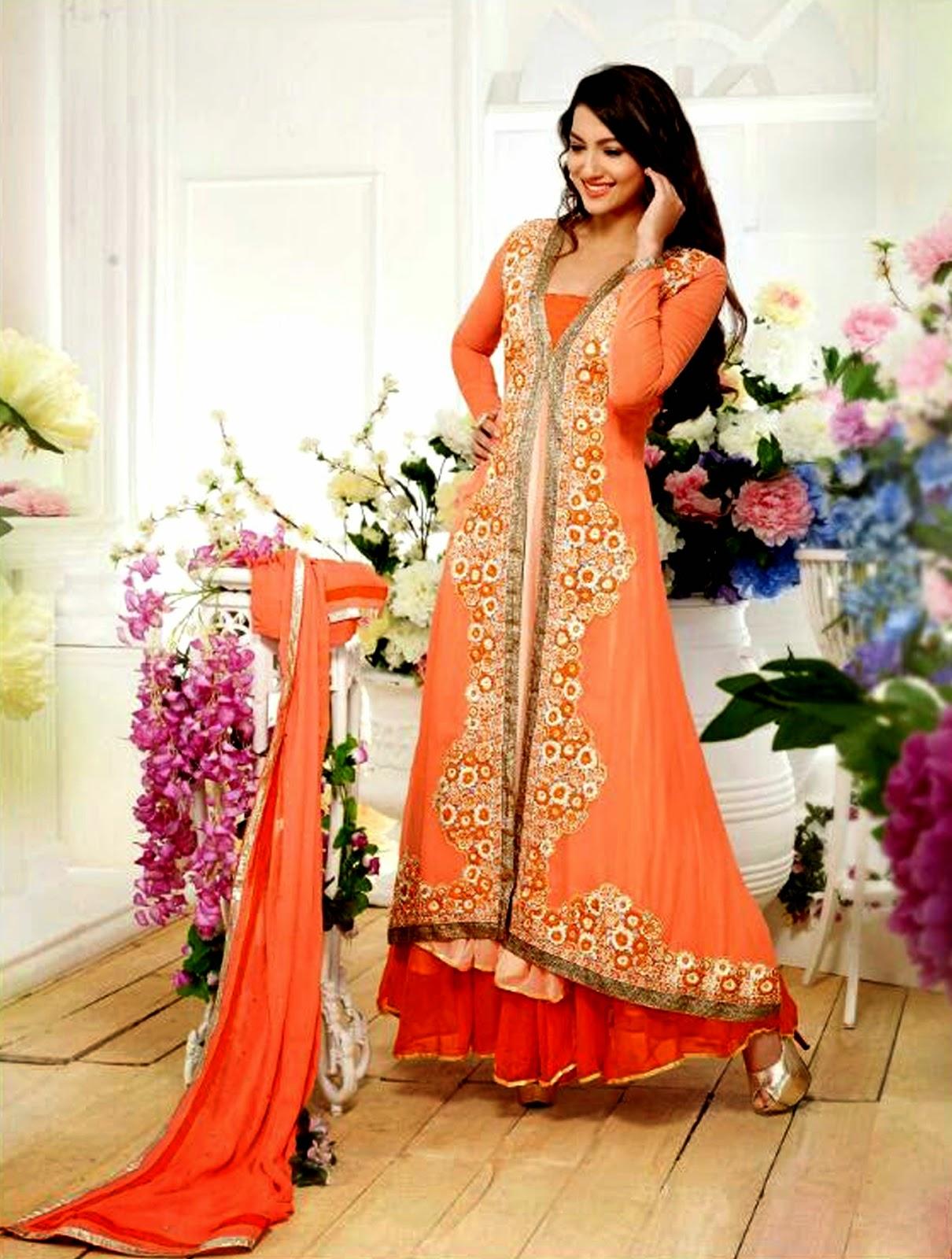 Gauhar Khan Anarkali Suit Wallpapers Free Download