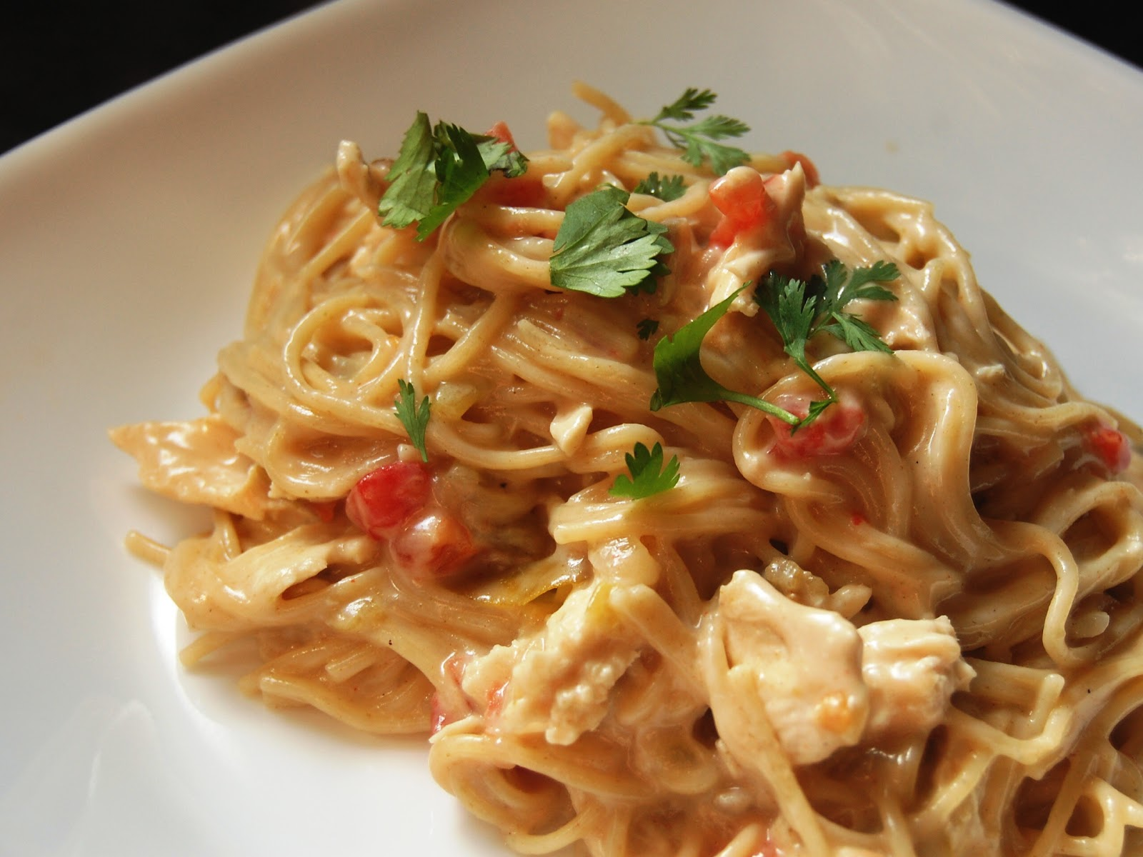 Cassie Craves: Tex-Mex White Cheddar Chicken Spaghetti