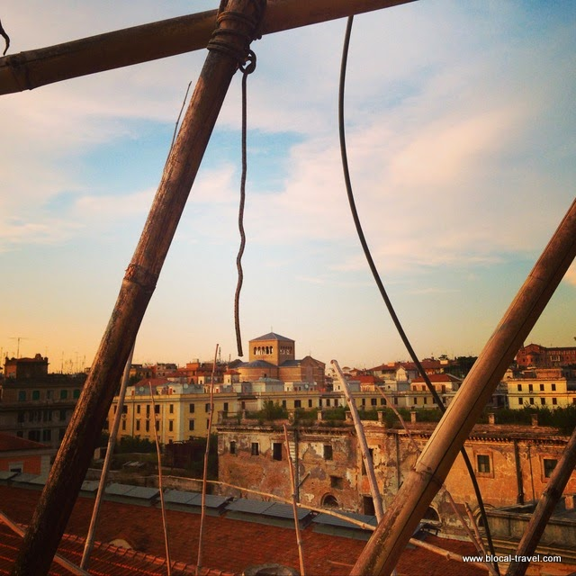 view from Big Bamboo, testaccio, rome