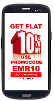 Emore :Flat 10% Off On Mobile ,DTH Recharge : Buytoearn