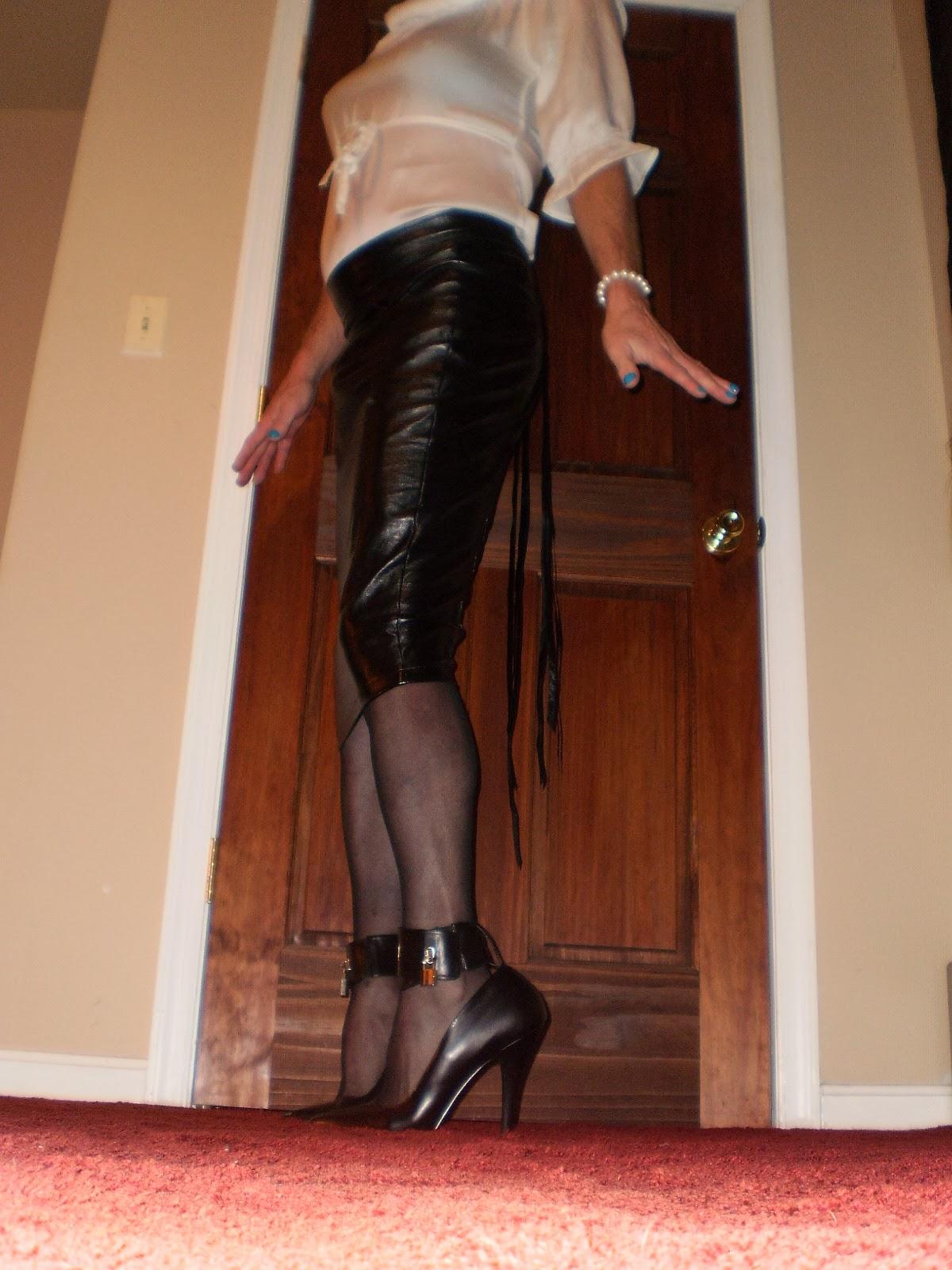 latex hobble skirt blowjob