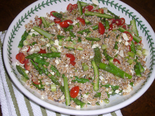 Farro Salad with Asparagus, Tomatoes, & Feta