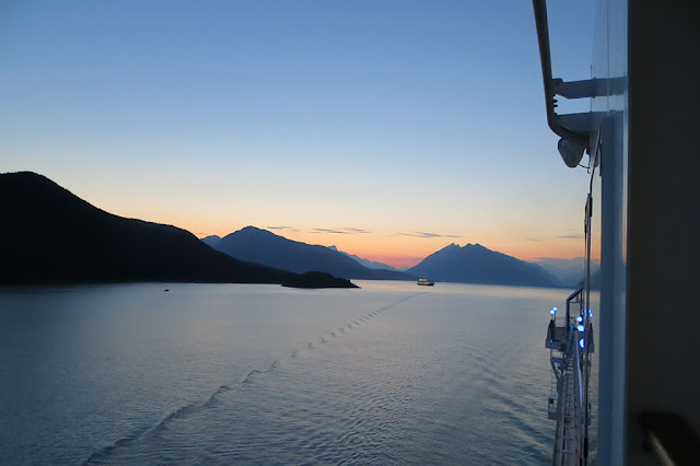 Sunset leaving Skagway, Alaska