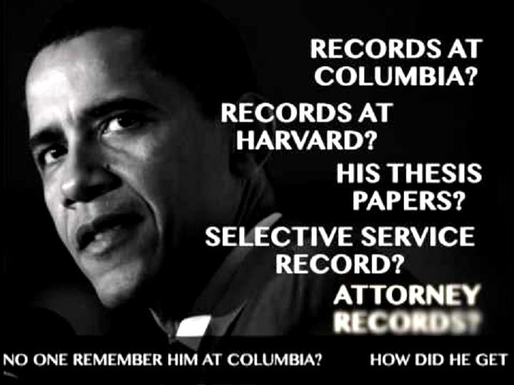 obama college records thesis