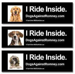 Official Dogs Against Romney Car Magnets