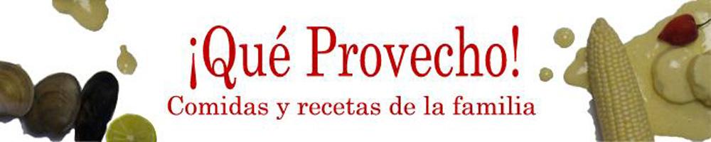 ¡Qué Provecho!: Comidas y recetas de la familia