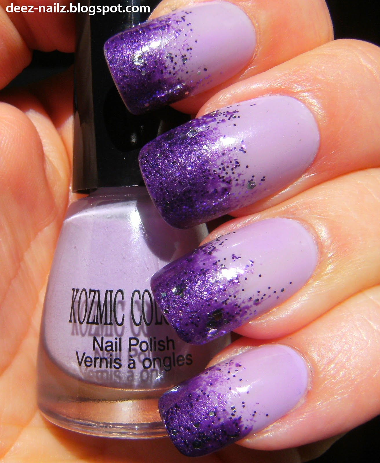 Deez Nailz: Purple Sponge Kozmic Colours
