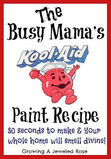 craft recipes - kool-Aid paint