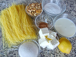 Cataif cu frisca si nuca ingrediente reteta