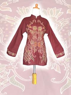 blouse+batik+tulis BAJU BATIK wanita pria dan anak muda