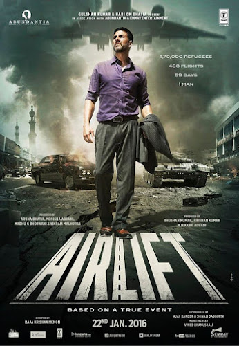 Poster Of Bollywood Movie Airlift (2016) 100MB Compressed Small Size Mobile Movie Free Download