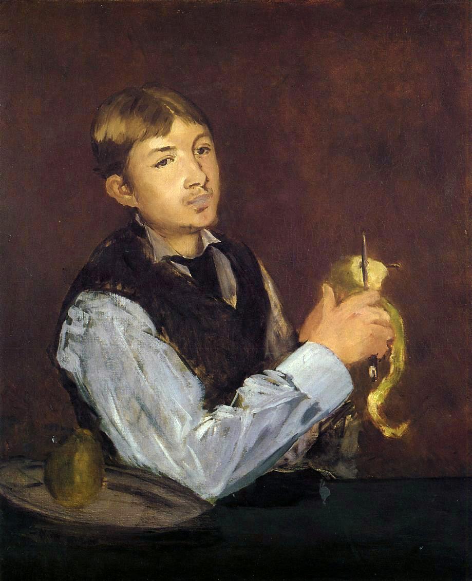 Édouard Manet, Joven pelando una pera (1868), Museo Nacional de Estocolmo