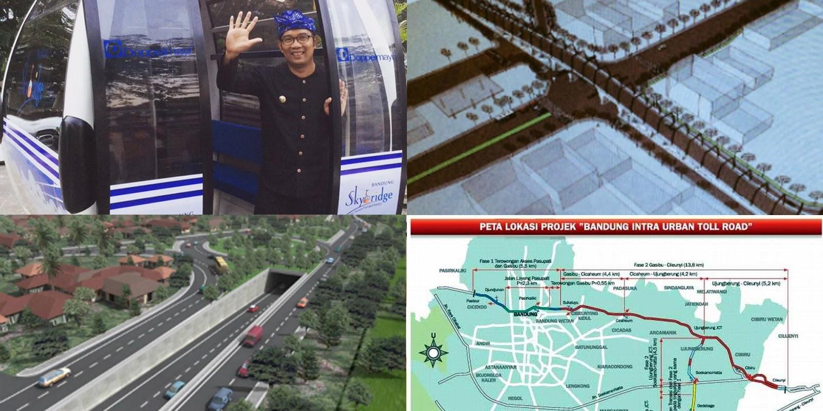 cable car Bandung terowongan cibiru jalan tol kota Bandung