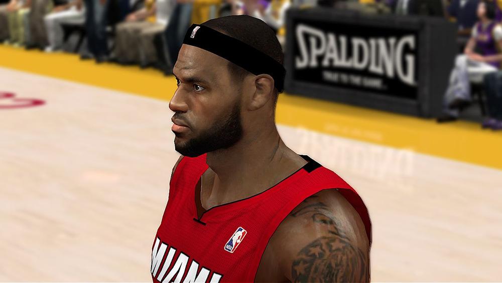 NBA 2K14 Realistic LeBron James Cyberface Mod (Final)