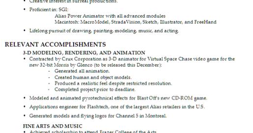 interactive digital media   create a professional resume