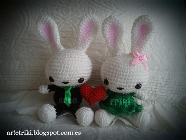 conejo amigurumi crochet doll ganchillo muñeco bunny cute