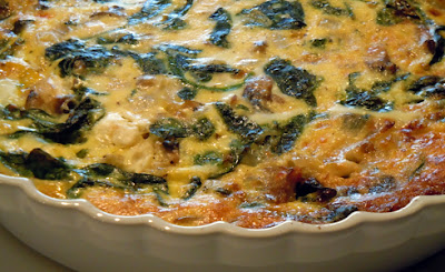 Spinach and mushroom quiche By Chef Shireen Anwer