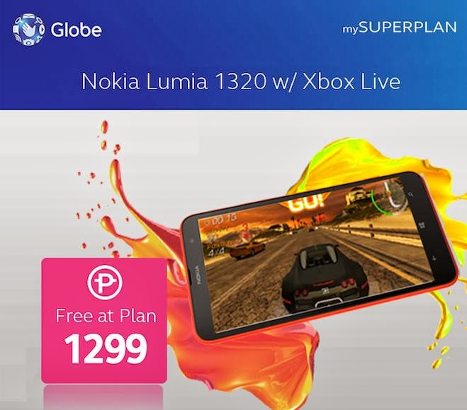 Nokia Lumia 1320 Free At Globe Plan 1299