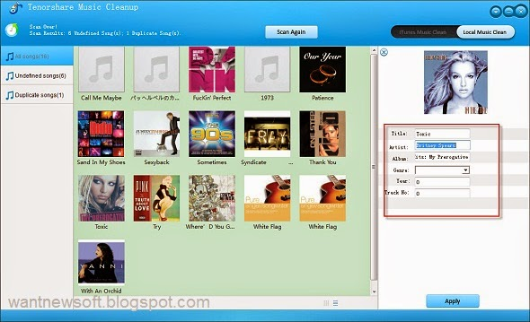 Tenorshare Music Cleanup Image