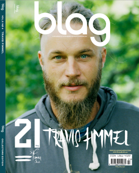 Travis Fimmel covers Blag Magazine's 21st Birthday Edition