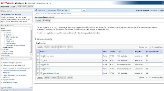 Deployments in WebLogic 12c