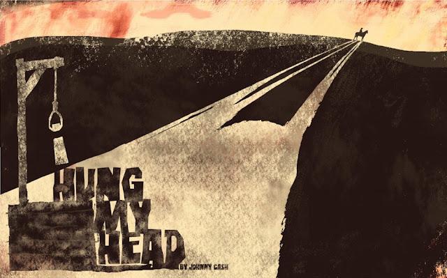 Dibujo basado en la canción I hung my head
