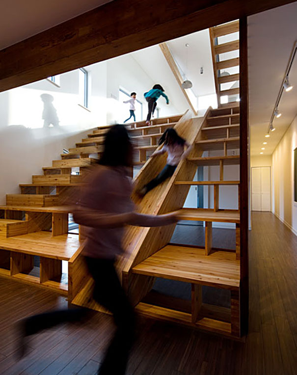 Library Slider Stairs