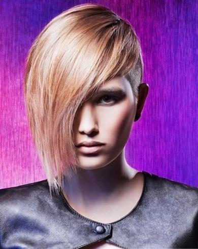 Stylish Long Bangs Short Hair Style 2014
