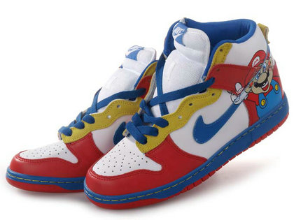 Nike Super Mario Dunks High Tops  dc95778409c3