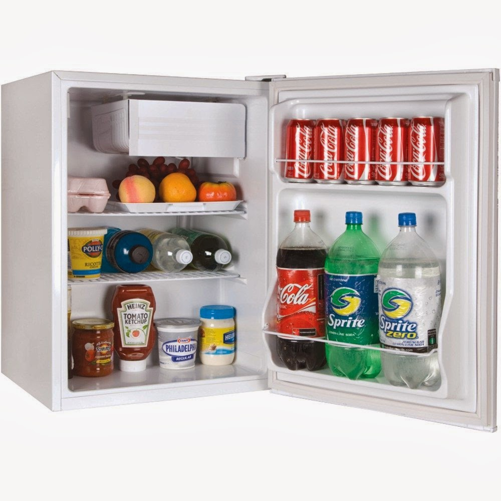 Keep beverages, cold cuts, cheeses and more cold and close at hand with this contemporary Galanz cu ft Refrigerator. It is made of sturdy and durable materials designed for long lasting use and features a small freezer for added convenience.