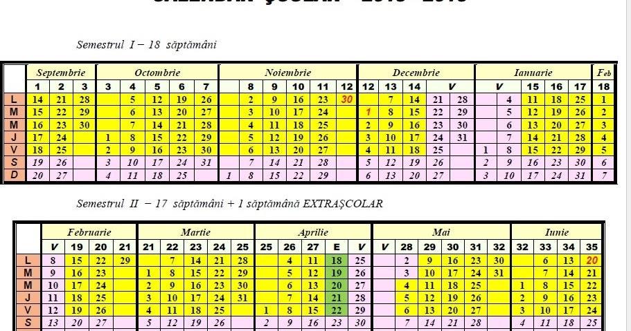 ... '' Gălănești: Calendarul şi structura anului şcolar 2015-2016