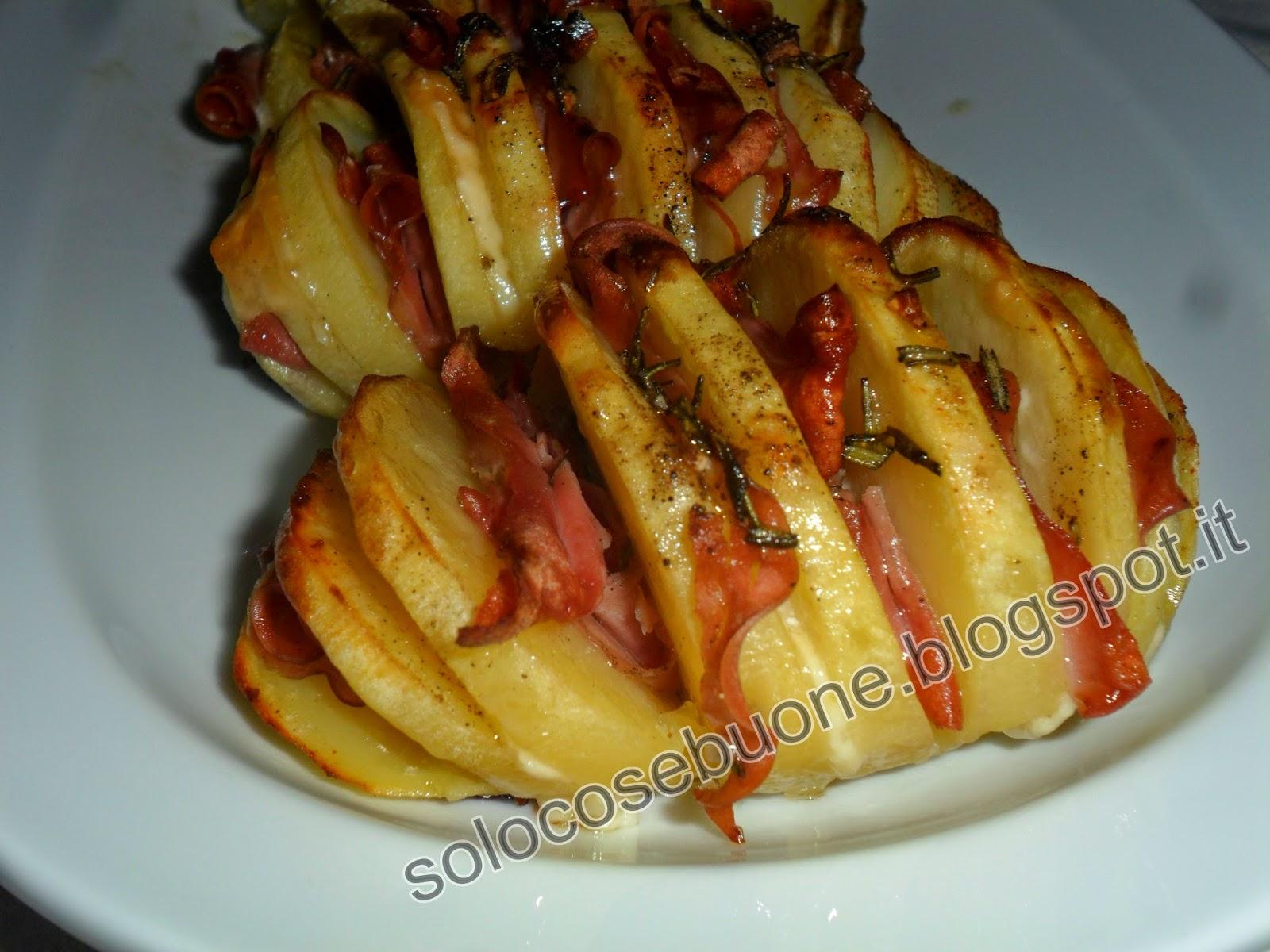 patate a fisarmonica ripiene