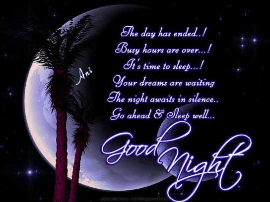 Good Night Wallpaper To Love : Best Good Night Wallpaper My image