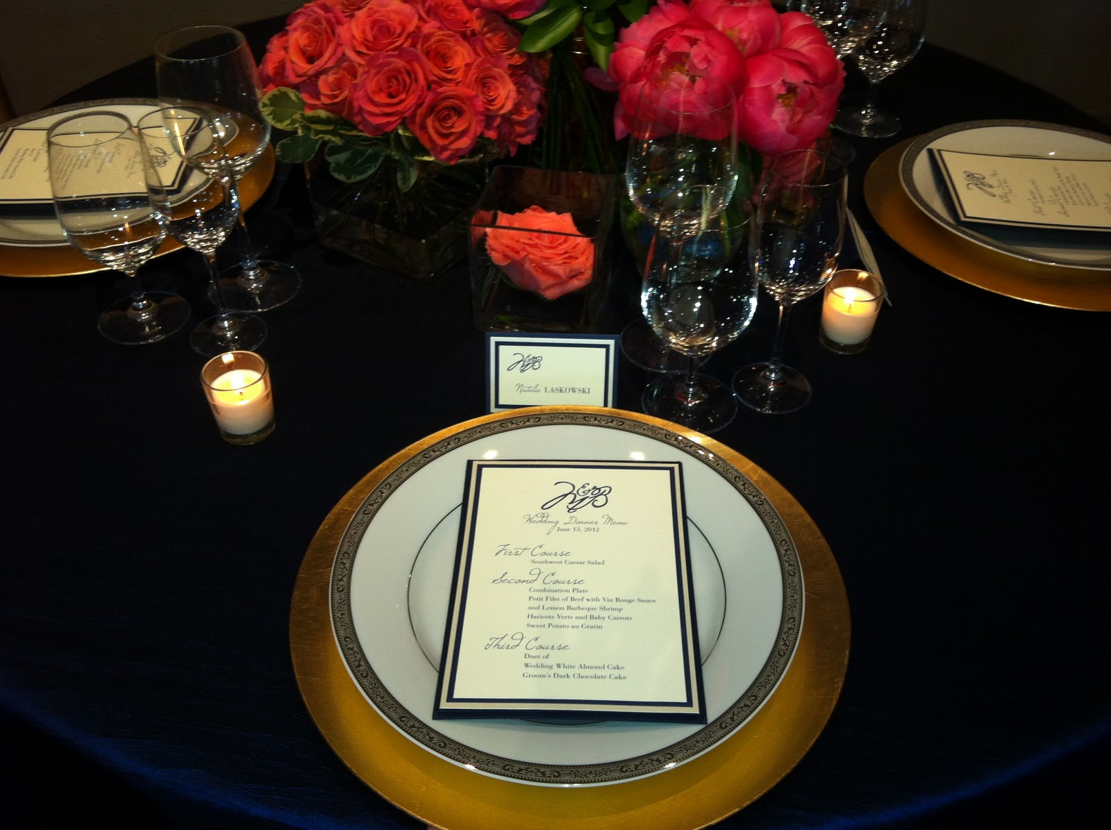 Blue And Gold Table Setting Belle Of The Ball Jackson Hicks Bridal Show 2011