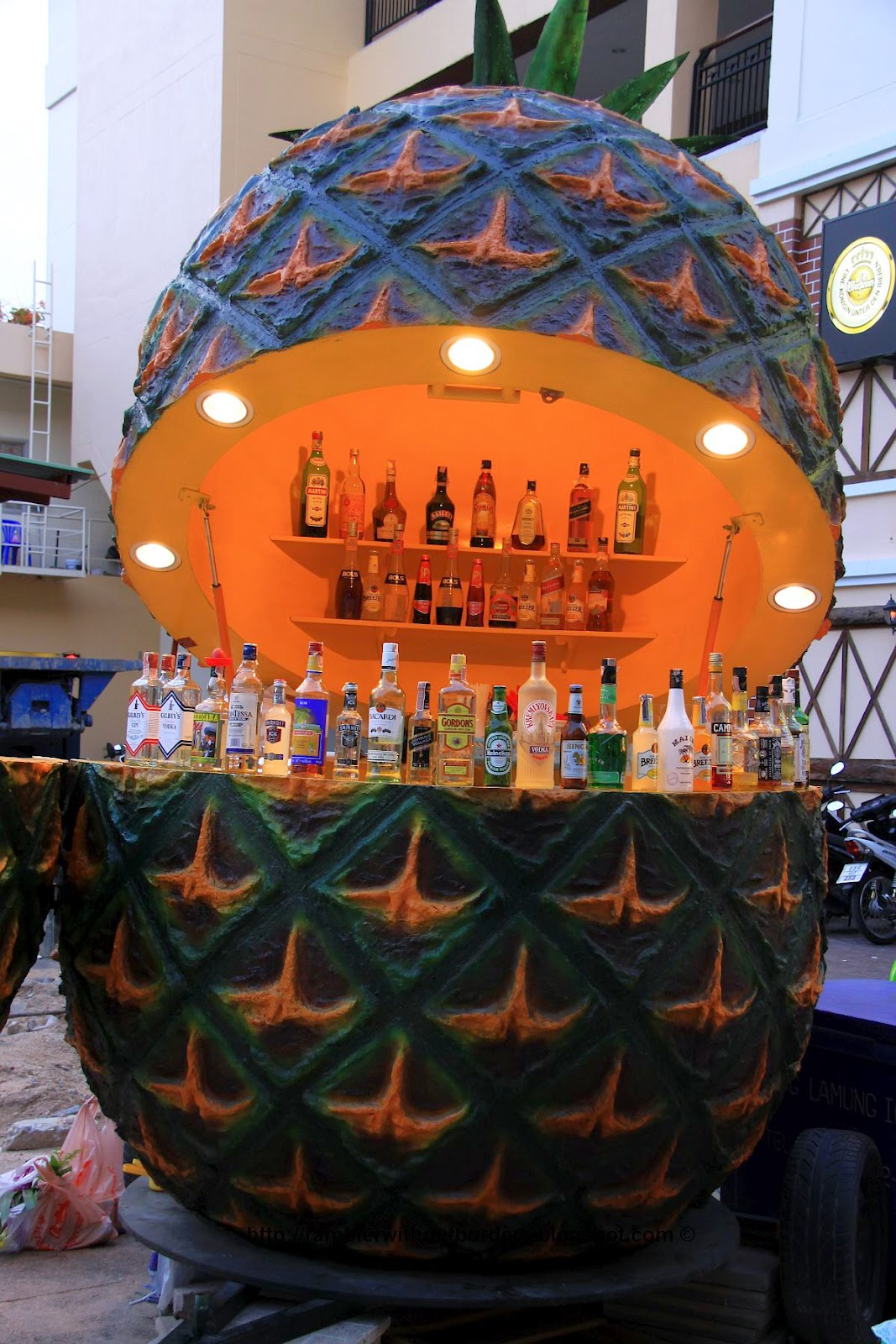 Open bar stand around Pattaya City Walk area, Thailand