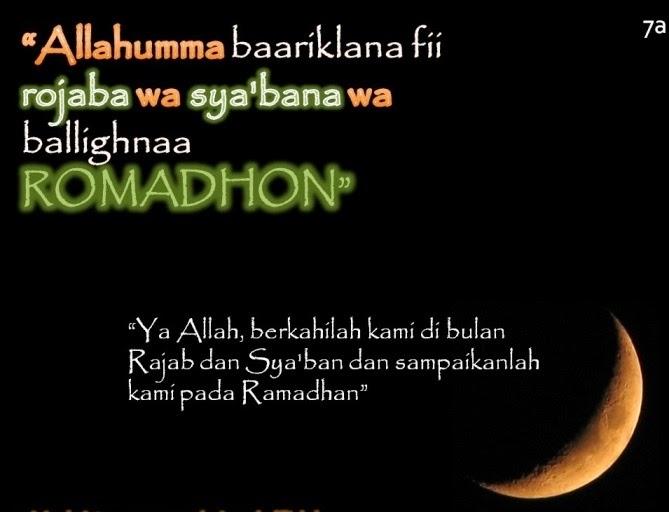 Doa Bulan Rejab Versi Rumi