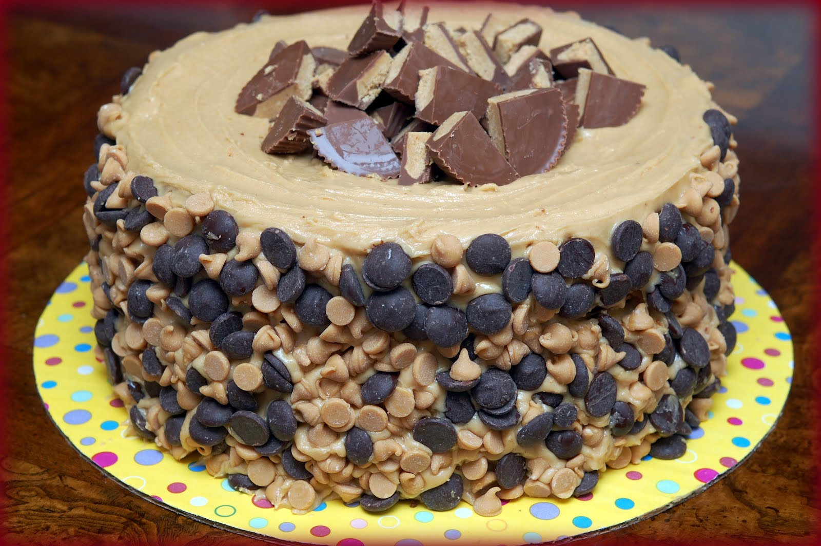 REESE'S OVERLOAD CAKE-2 PEANUT BUTTER BLONDIE LAYERS, 1 ...