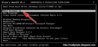 Cara Reset Password Windows Menggunakan Hiren's BootCD 15.1