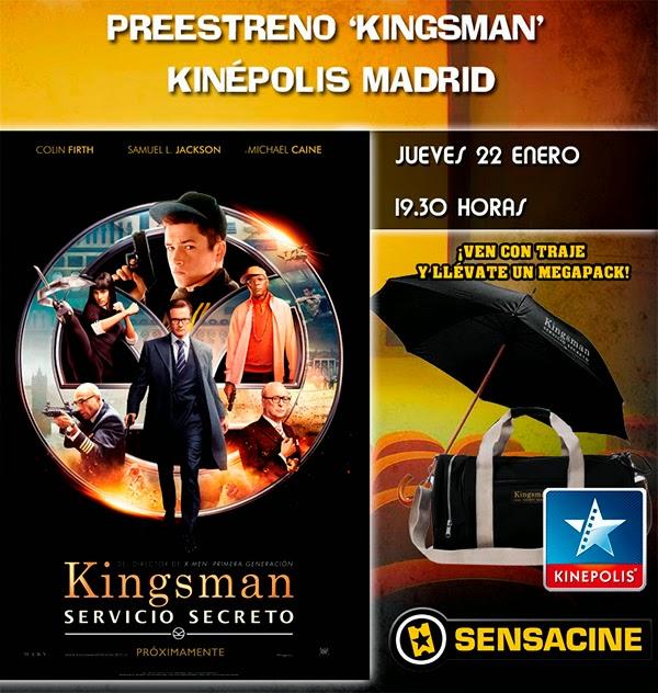 Concurso preestreno Kingsman: Servicio Secreto