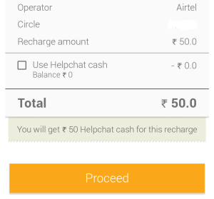 Helpchat app 100% cashback offer