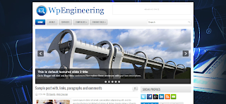 WpEngineering Blogger Template is a Wordpress To Bloggre Converted free blogger Template