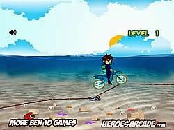 Ben 10 lái moto dưới biển, game dua xe