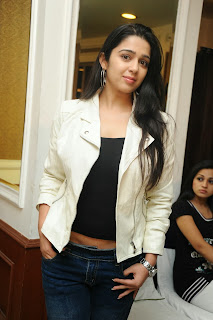 Actress Charmi Kaur Pictures in Jeans at One by Two Movie Celetes 20 Years Event  0137