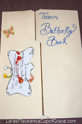 butterfly lapbook, toddler homeschool